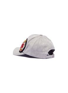 Venna 'Love' appliqué suede baseball cap