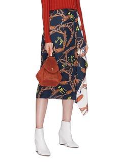 MANU Atelier 'Fernweh' stripe shoulder strap micro suede handbag