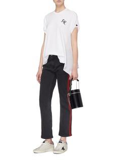 Sandrine Rose 'The Eleanor' draped outseam T-shirt