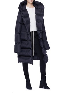 Rick Owens Hooded down long puffer jacket