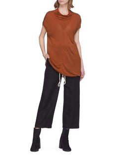 Rick Owens 'Faun' cowl neck long T-shirt