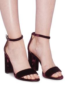 Sam Edelman 'Yaro' ankle strap velvet sandals