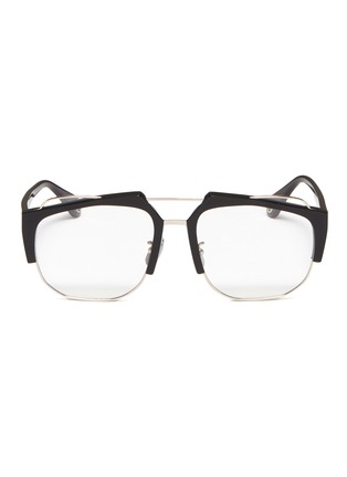 953cb446dc Jinnnn Metal front acetate square aviator optical glasses ...