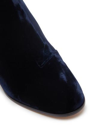 Detail View - Click To Enlarge - SOPHIA WEBSTER - 'Stella' glass crystal heel velvet ankle boots