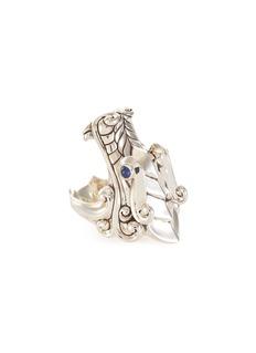 John Hardy 'Legends Naga' sapphire silver ring