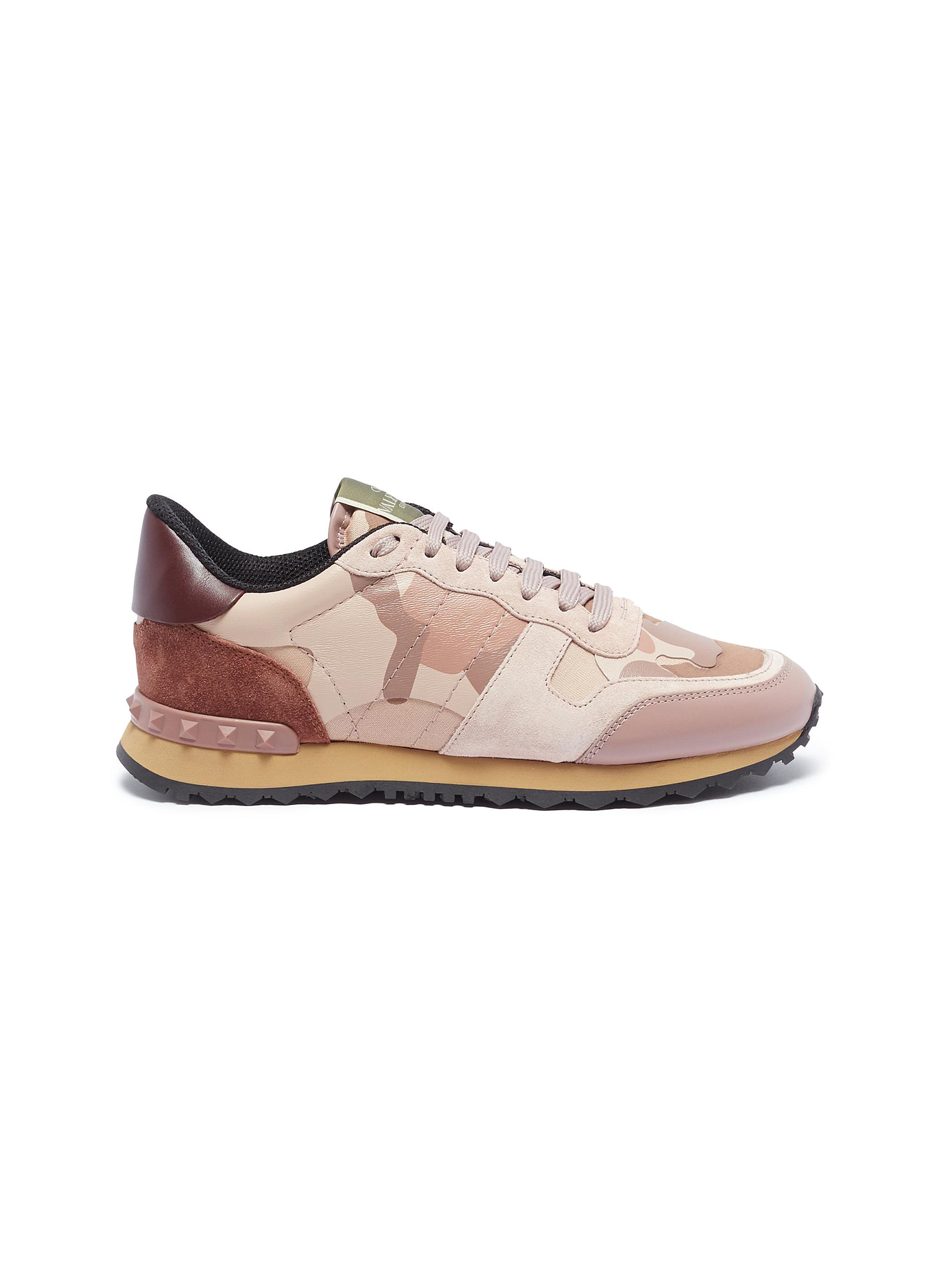 Camouflage Rockrunner patchwork sneakers by Valentino