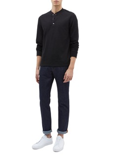 Theory 'Classic' waffle knit long sleeve Henley T-shirt