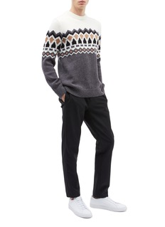 Theory 'Verios' Fair Isle intarsia Merino wool sweater