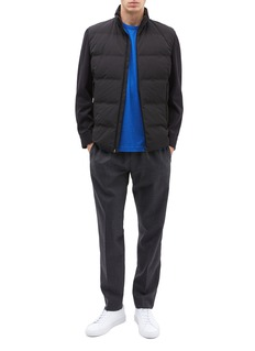 Theory 'Mountain' contrast sleeve down puffer jacket