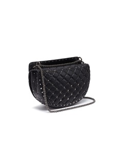 Valentino 'Rockstud Spike' quilted leather saddle bag