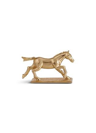 - L'OBJET - Horse knife and chopstick rest set – Gold