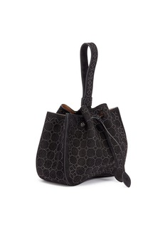Alaïa 'Clou' geometric studded suede bucket bag