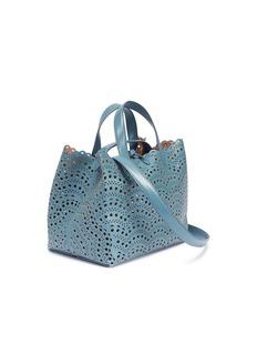 Alaïa 'Vienne' geometric lasercut mini leather tote