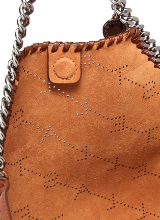 Detail View - Click To Enlarge - Stella McCartney - 'Falabella' reversible perforated logo mini chain tote