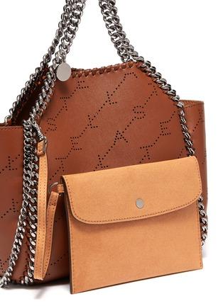 - Stella McCartney - 'Falabella' reversible perforated logo mini leather chain tote
