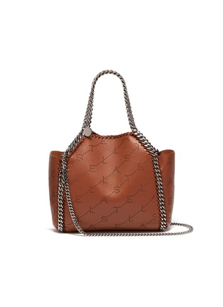 Main View - Click To Enlarge - Stella McCartney - 'Falabella' reversible perforated logo mini chain tote