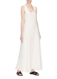 Elizabeth and James 'Lenox' linen-silk A-line dress