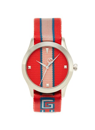 b9ded2028f9 GUCCI. 'G-Timeless' logo strap 38mm watch
