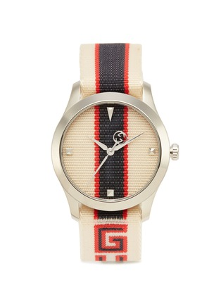 Main View - Click To Enlarge - GUCCI - 'G-Timeless' logo strap 38mm watch