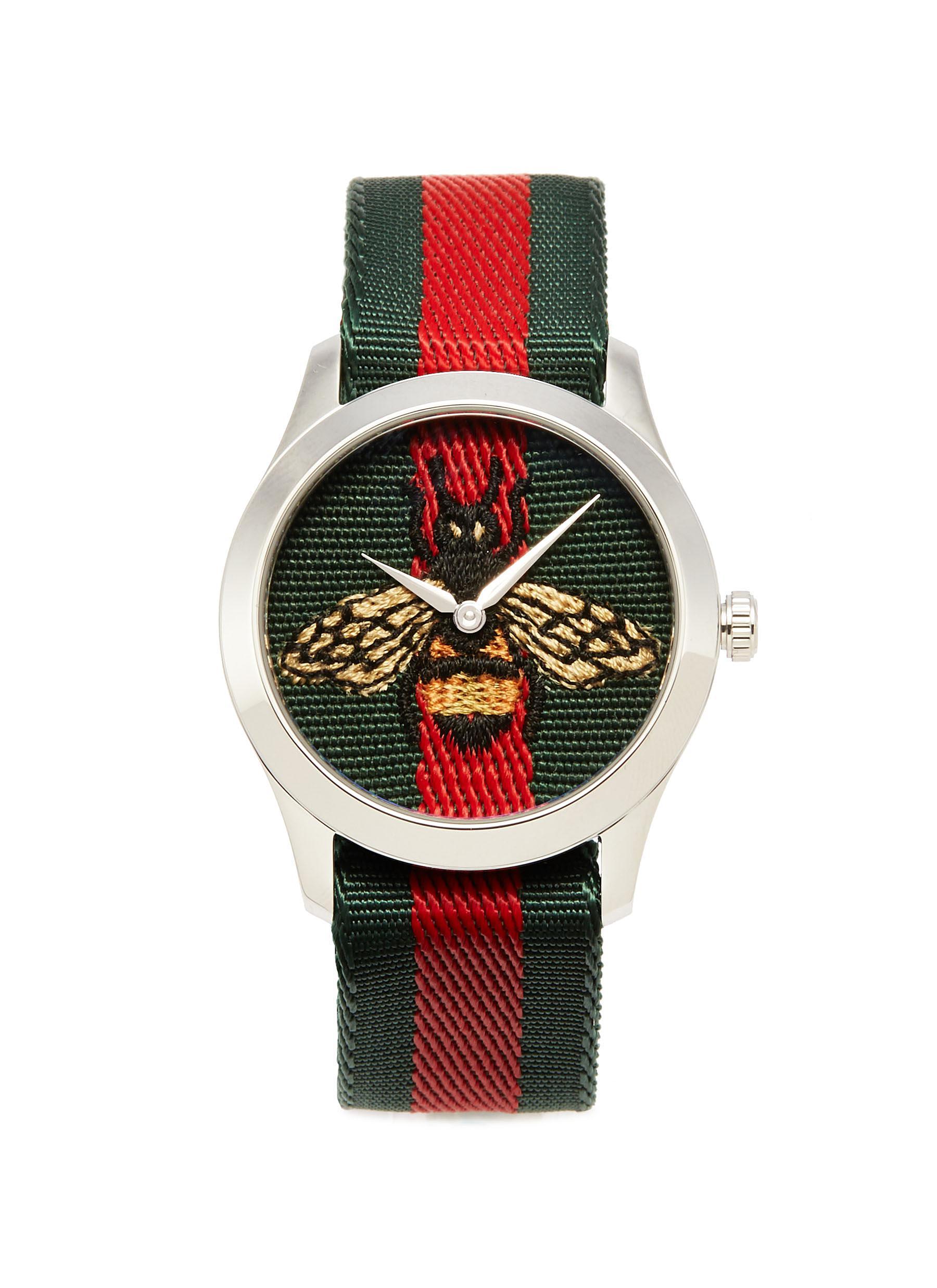 c187c3ce5f6 Gucci.  Le Marché des Merveilles  bee embroidered 38mm watch
