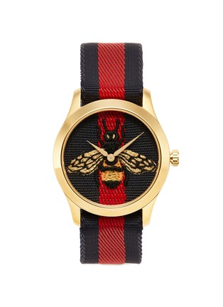 Main View - Click To Enlarge - GUCCI - 'Le Marché des Merveilles' bee embroidered 38mm watch