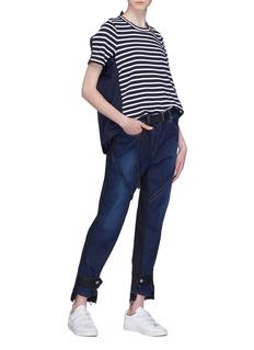 Sacai Pleated back stripe T-shirt
