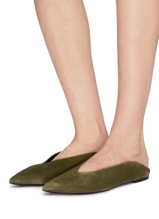 Alumnae Suede step-in flats