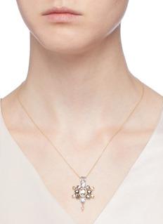 Xiao Wang 'Galaxy' diamond sapphire 18k yellow gold pendant necklace
