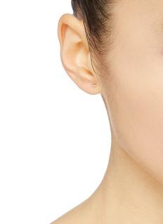 Xiao Wang 'Gravity' diamond 14k yellow gold stud earrings
