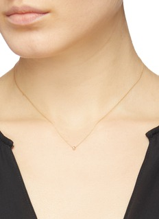Xiao Wang 'Gravity' diamond 14k yellow gold pendant necklace
