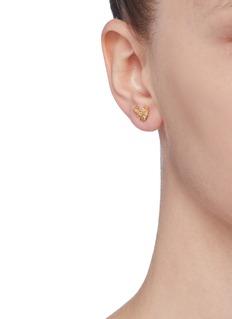 Xiao Wang 'Stardust' diamond 14k yellow gold stud earrings