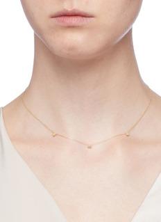 Xiao Wang 'Stardust' diamond 14k yellow gold necklace