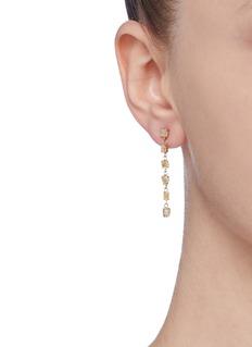 Xiao Wang 'Stardust' diamond 14k yellow gold link drop earrings