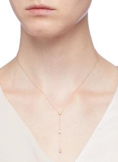 Xiao Wang 'Stardust' diamond 14k yellow gold pendant necklace