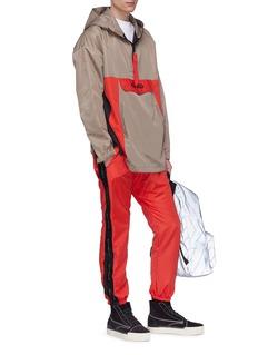Daniel Patrick Logo stripe outseam track pants