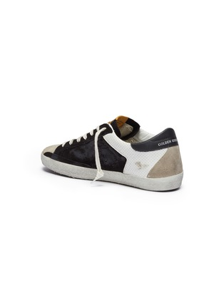 Detail View - Click To Enlarge - GOLDEN GOOSE - 'Superstar' colourblock leather panel suede sneakers