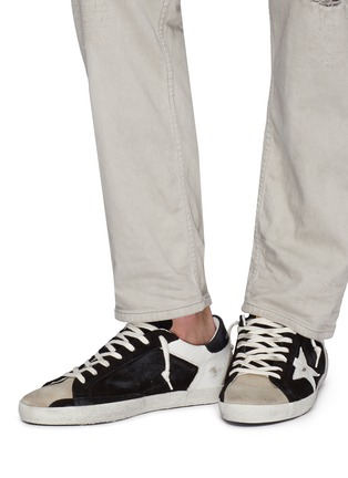 Figure View - Click To Enlarge - GOLDEN GOOSE - 'Superstar' colourblock leather panel suede sneakers