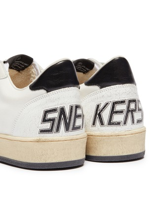 - GOLDEN GOOSE - 'Ball Star' slogan print counter panelled canvas sneakers