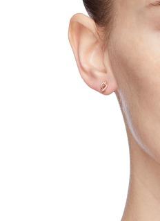 SYDNEY EVAN 'Love Knot' diamond 14k rose gold single earring