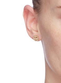SYDNEY EVAN 'Happy Face' diamond 14k yellow gold single stud earring