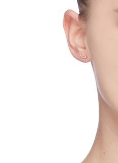 SYDNEY EVAN 'Tusk' diamond 14k yellow gold earrings