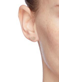 SYDNEY EVAN 'XO' diamond 14k yellow gold single stud earring