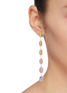 J.HARDYMENT 'Small Thumbprints' 14k gold silver chain drop earrings
