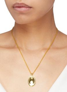 J.HARDYMENT 'Small Oval Thumbprint' pendant necklace