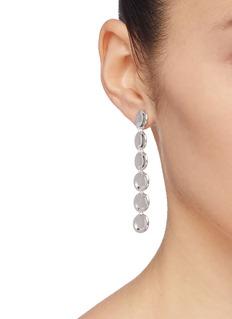 J.HARDYMENT 'Small Thumbprints' rhodium silver drop earrings