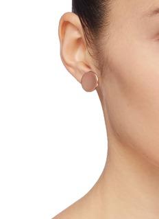J.HARDYMENT 'Medium Thumbprint' 14k rose gold silver stud earrings
