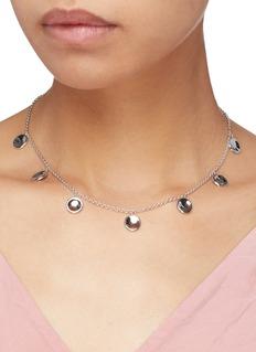 J.HARDYMENT 'Small Thumbprints' rhodium silver charm necklace