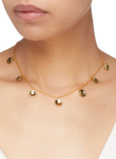 J.HARDYMENT 'Small Thumbprints' 14k yellow gold silver charm necklace
