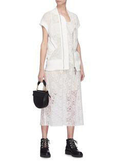 Sacai Panel guipure lace dress