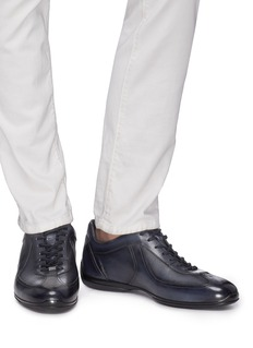 Santoni Panelled leather driving sneakers